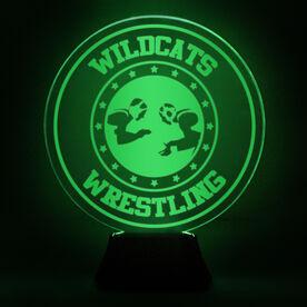 Wrestling Acrylic LED Lamp Takedown With Name