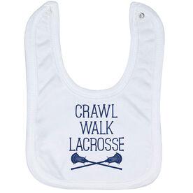 Guys Lacrosse Baby Bib - Crawl Walk Lacrosse