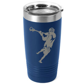 Guys Lacrosse 20 oz. Double Insulated Tumbler - Player Silhouette