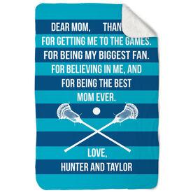 Guys Lacrosse Sherpa Fleece Blanket - Dear Mom Heart