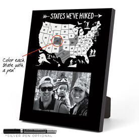 Photo Frame - States We've Hiked Outline