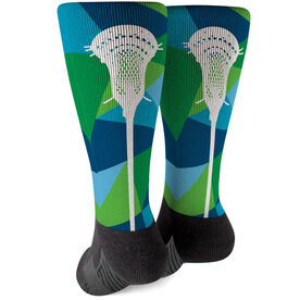 Guys Lacrosse Printed Mid-Calf Socks - Prism