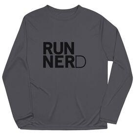 Men's Running Long Sleeve Tech Tee - RUNNERD