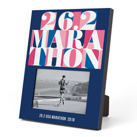 Running Photo Frame - 26.2 Marathon Mosaic