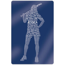 """Softball 18"""" X 12"""" Aluminum Room Sign - Personalized Words Batter"""