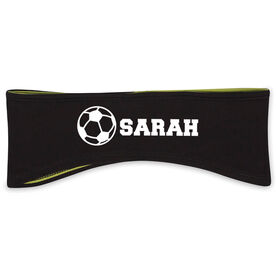 Soccer Reversible Performance Headband Personalized Name Soccer Ball