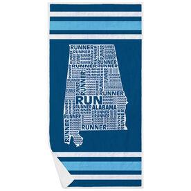 Running Premium Beach Towel - Alabama State Runner