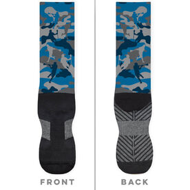 Guys Lacrosse Printed Mid-Calf Socks - Camo