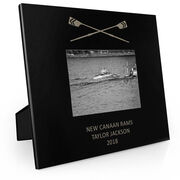 Crew Engraved Picture Frame - Crossed Oars