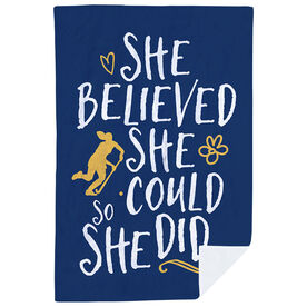 Field Hockey Premium Blanket - She Believed She Could So She Did