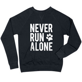 Running Raglan Crew Neck Sweatshirt - Never Run Alone (Bold)