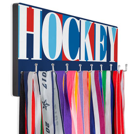Hockey Hooked on Medals Hanger - Hockey Mosaic