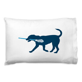Guys Lacrosse Pillowcase - Max The Lax Dog