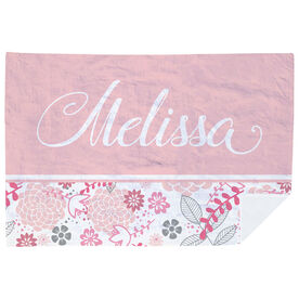 Personalized Premium Blanket - 2 Tone Floral