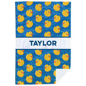 Personalized Premium Blanket - Personalized Rubber Ducky