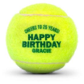Personalized Tennis Ball - Happy Birthday