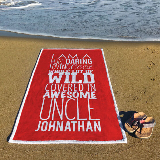 Personalized Premium Beach Towel - That's My Uncle