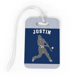 Baseball Bag/Luggage Tag - Personalized Baseball Player Guy