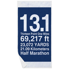 Running Premium Beach Towel - 13.1 Math Miles