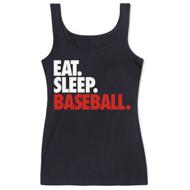 Baseball Women's Athletic Tank Top Eat. Sleep. Baseball.