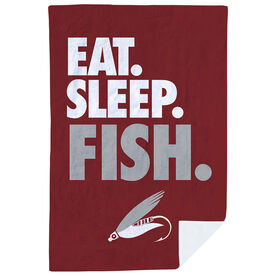 Fly Fishing Premium Blanket - Eat. Sleep. Fish. Vertical