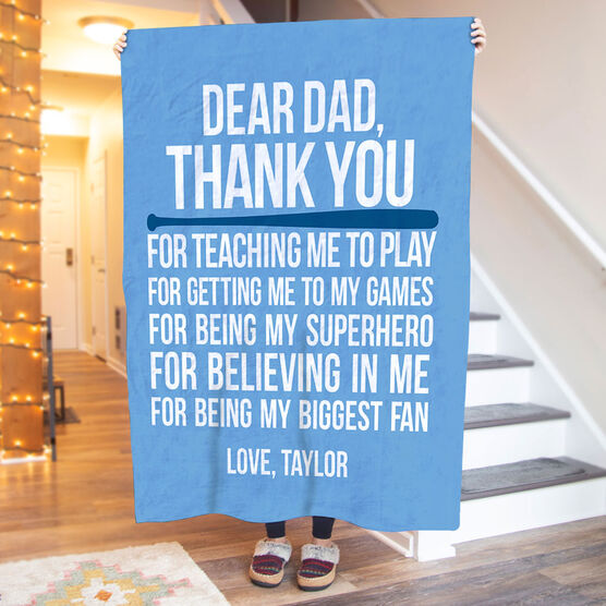 Softball Premium Blanket - Dear Dad