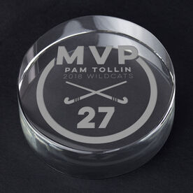 Field Hockey Personalized Engraved Crystal Gift - MVP Award
