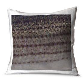 Triathlon Throw Pillow Fly Fishing Striper