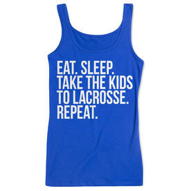 Lacrosse Women's Athletic Tank Top - Eat Sleep Take The Kids To Lacrosse