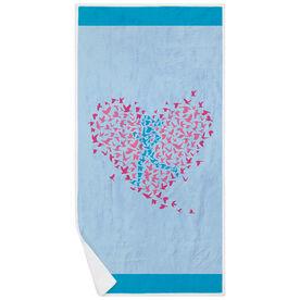 Running Premium Beach Towel - Run With Your Heart