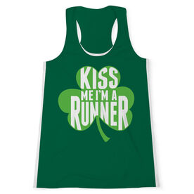 Women's Performance Tank Top - Kiss Me I'm A Runner