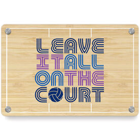Volleyball Metal Wall Art Panel - Leave It All On The Court