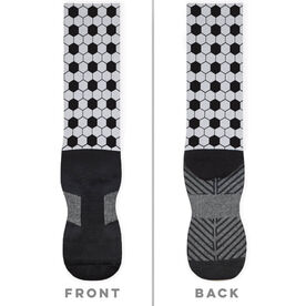 Soccer Printed Mid-Calf Socks - Pattern