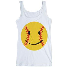 Softball Women's Athletic Tank Top Smiley