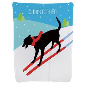 Skiing Baby Blanket - Vintage Dog