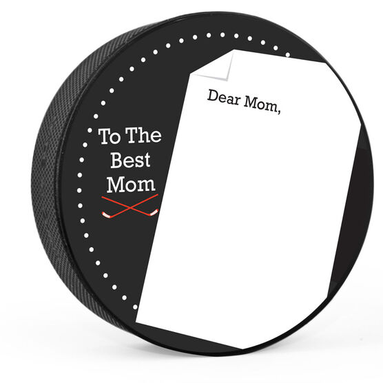Personalized Thanks Mom (Write In) Hockey Puck