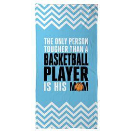 Basketball Beach Towel Tougher Than A Player