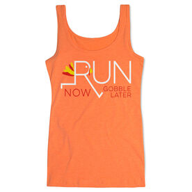 Running Women's Athletic Tank Top - Let's Run Now Gobble Later