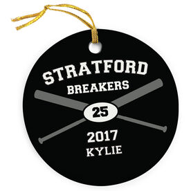 Softball Porcelain Ornament Custom Softball Team