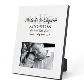 Personalized Photo Frame - Monogram Wedding Anniversary