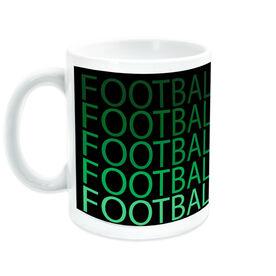 Football Coffee Mug Fade