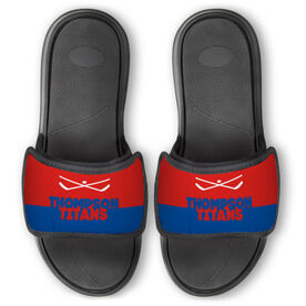 Hockey Repwell™ Slide Sandals - Team Name Colorblock