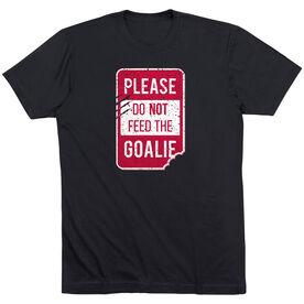 Short Sleeve T-Shirt - Don't Feed The Goalie