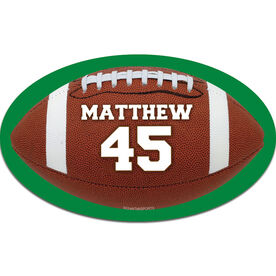 Personalized Football Oval Car Magnet