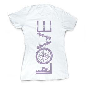 Vintage Triathlon T-Shirt - Love To Tri