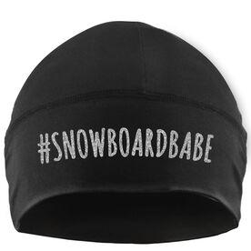 Snowboarding Beanie Performance Hat - #SnowboardBabe