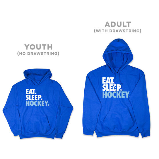 Hockey Hooded Sweatshirt - Eat. Sleep. Hockey.