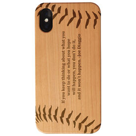 Baseball Engraved Wood IPhone® Case - Baseball With Text