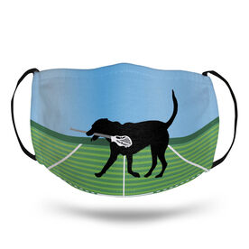 Guys Lacrosse Face Mask - Max the Lax Dog Field