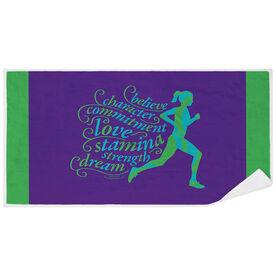Running Premium Beach Towel - Words to Run By